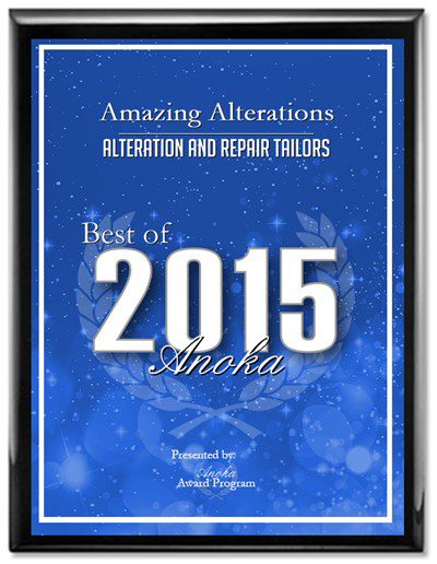 Anoka Minnesota Alteration & Repair Tailors Best Of 2015 Award