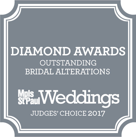 Minneapolis St. Paul Magazine Bridal Alterations Diamond Award Judges Choice 2017